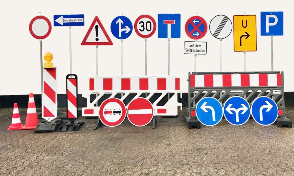 Dammann-Verkehrsabsperrung